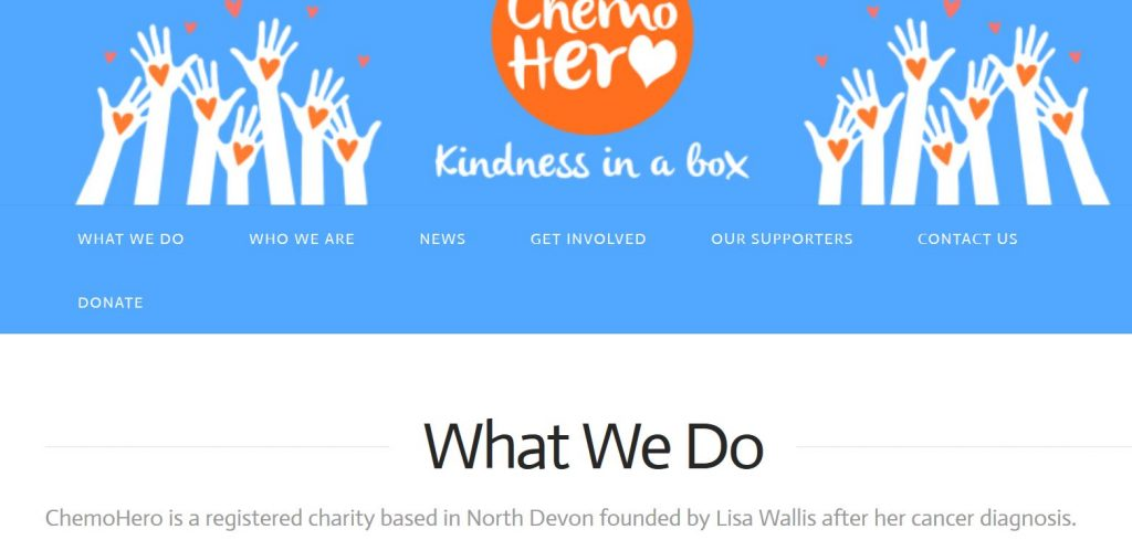 chemo hero charity website